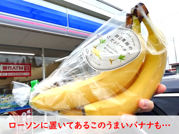田辺農園のバナナはローソンで楽天ペイで買える