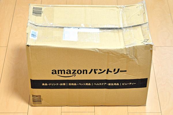 amazonパントリーは箱がつぶれてきた