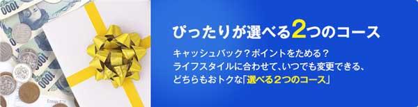 NTTグループカードの2つのキャッシュバックコース